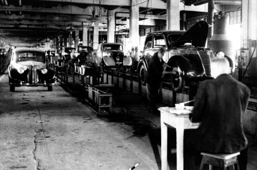 Завод Fiat в 1946 г., Турин