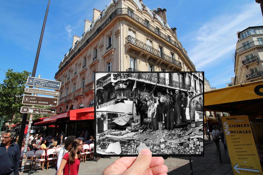 Площадь Сен-Мишель, 1944 г.