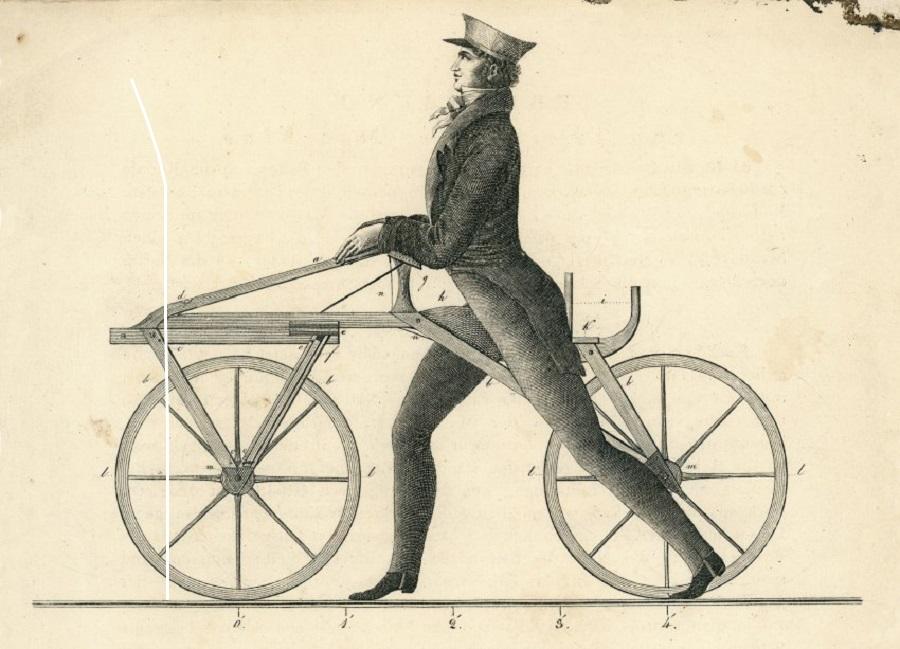 Первый велосипед, 1817 г.