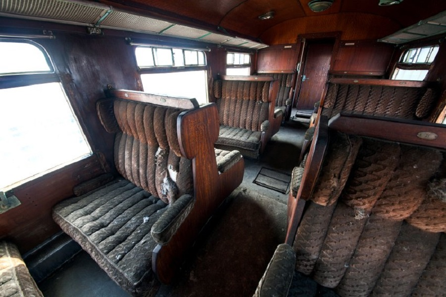 """Старый вагон """"Восточного экспресса"""" в Бельгии."""