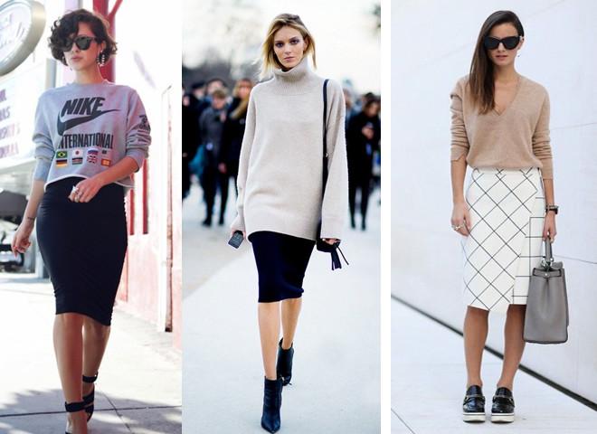 Базовый гардероб: с чем носить юбку-карандаш